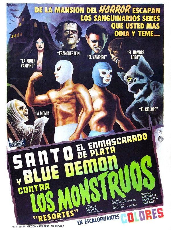 santo y blue demos vs los monstuos